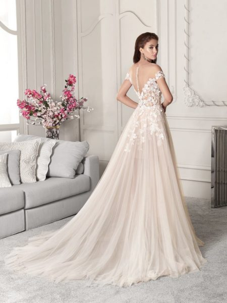 Back of 851 Wedding Dress from the Demetrios Starlight 2019 Bridal Collection