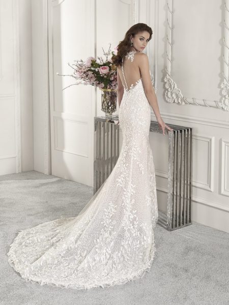 Back of 852 Wedding Dress from the Demetrios Starlight 2019 Bridal Collection