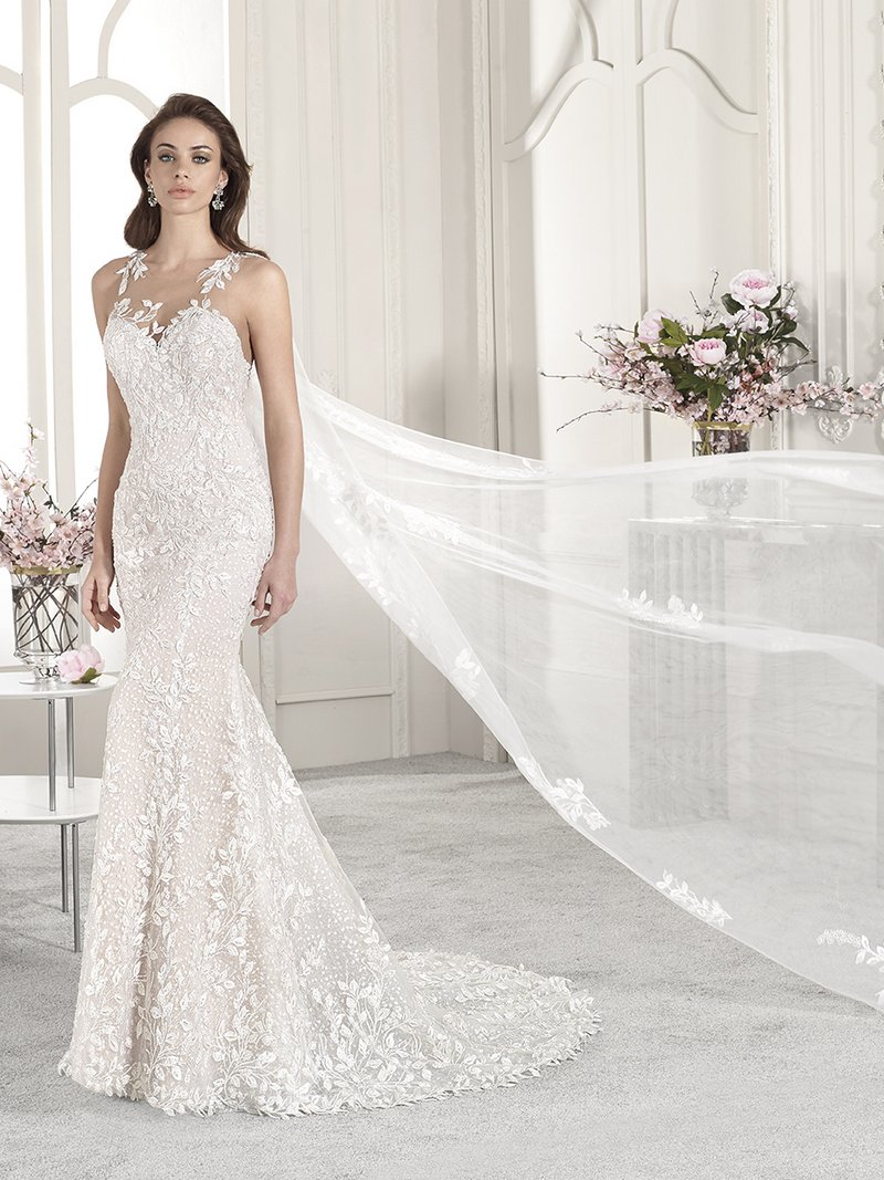 852 Wedding Dress with Cape from the Demetrios Starlight 2019 Bridal Collection