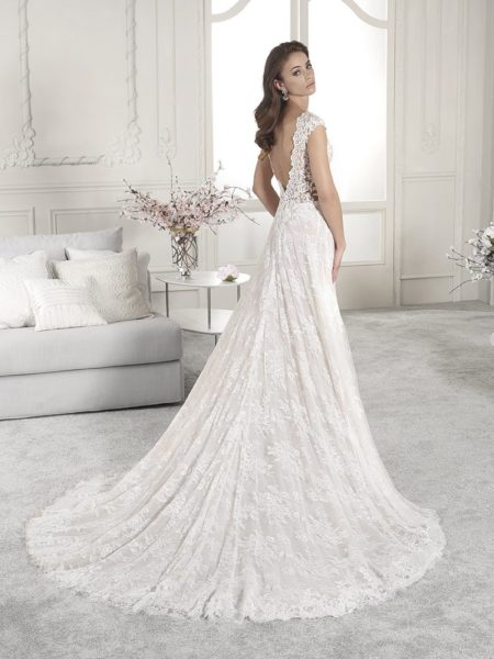 Back of 853 Wedding Dress from the Demetrios Starlight 2019 Bridal Collection