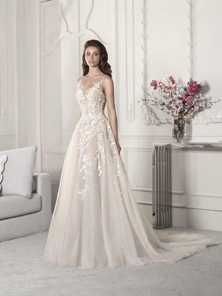 854 Wedding Dress from the Demetrios Starlight 2019 Bridal Collection