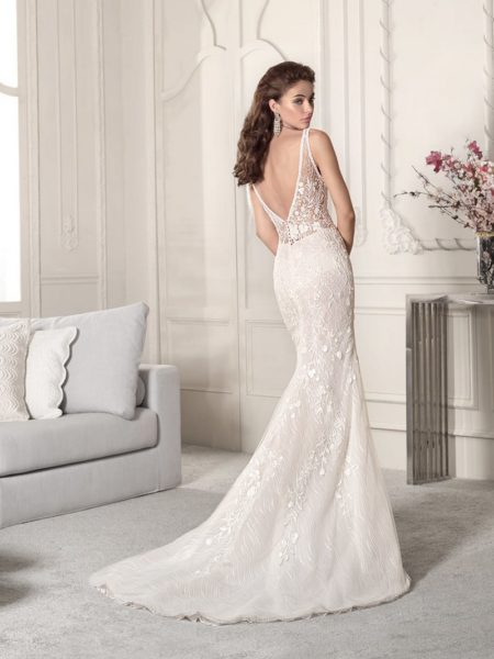Back of 855 Wedding Dress from the Demetrios Starlight 2019 Bridal Collection