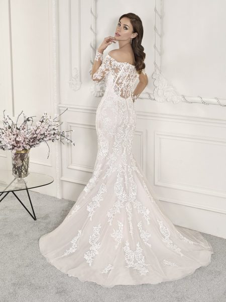 Back of 856 Wedding Dress from the Demetrios Starlight 2019 Bridal Collection