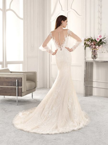 Back of 857 Wedding Dress from the Demetrios Starlight 2019 Bridal Collection