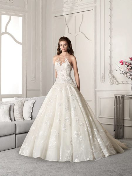 859 Wedding Dress from the Demetrios Starlight 2019 Bridal Collection