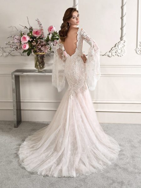 Back of 864 Wedding Dress from the Demetrios Starlight 2019 Bridal Collection