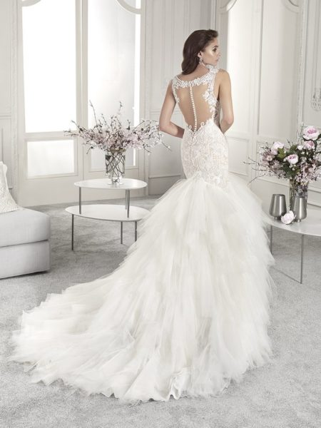 Back of 866 Wedding Dress from the Demetrios Starlight 2019 Bridal Collection