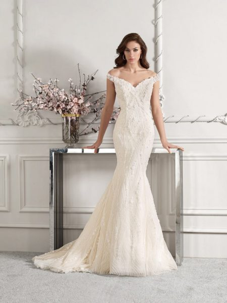 868 Wedding Dress from the Demetrios Starlight 2019 Bridal Collection