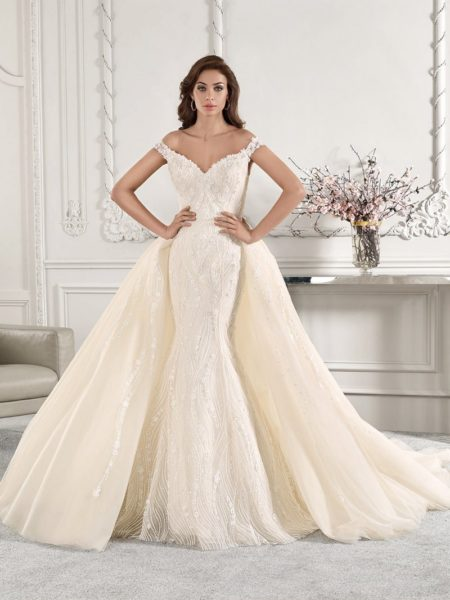 868 Wedding Dress with Train from the Demetrios Starlight 2019 Bridal Collection