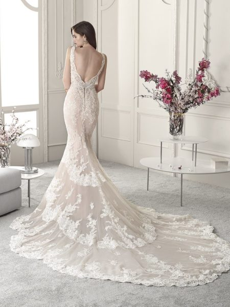 Back of 872 Wedding Dress from the Demetrios Starlight 2019 Bridal Collection