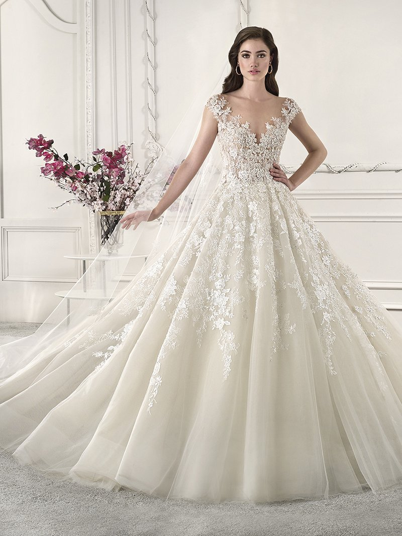 873 Wedding Dress from the Demetrios Starlight 2019 Bridal Collection