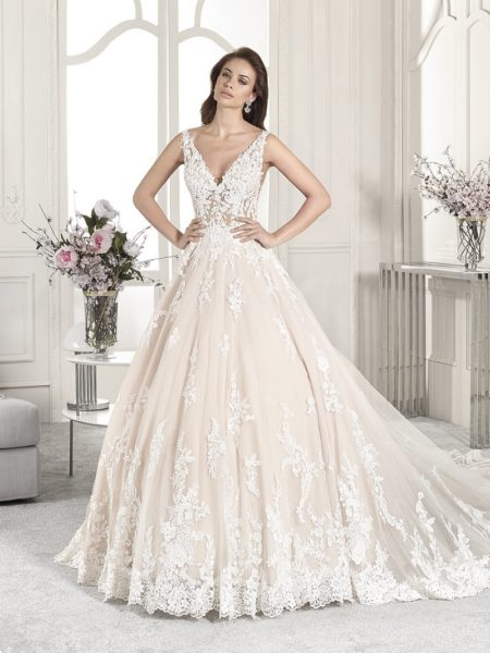 874 Wedding Dress from the Demetrios Starlight 2019 Bridal Collection