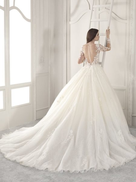 Back of 875 Wedding Dress from the Demetrios Starlight 2019 Bridal Collection