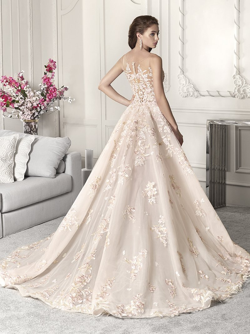 Back of 879 Wedding Dress from the Demetrios Starlight 2019 Bridal Collection