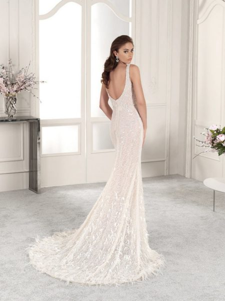 Back of 882 Wedding Dress from the Demetrios Starlight 2019 Bridal Collection