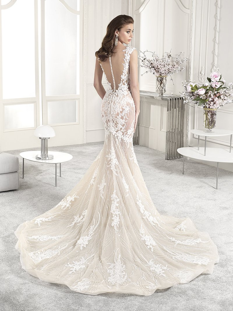 Back of 883 Wedding Dress from the Demetrios Starlight 2019 Bridal Collection