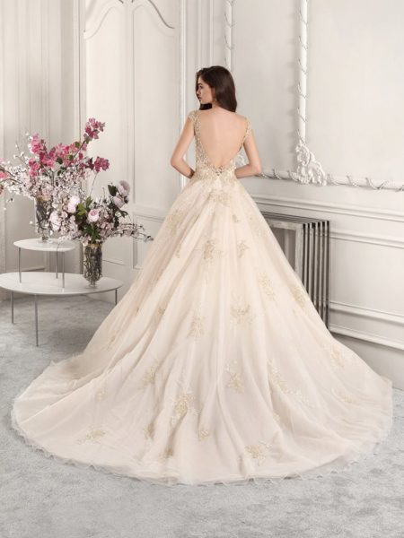 Back of 884 Wedding Dress from the Demetrios Starlight 2019 Bridal Collection