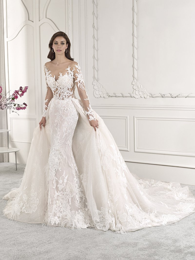 885 Wedding Dress with Train from the Demetrios Starlight 2019 Bridal Collection