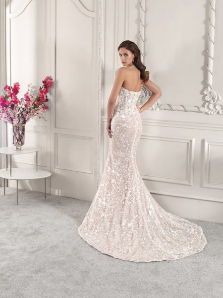Back of 887 Wedding Dress from the Demetrios Starlight 2019 Bridal Collection