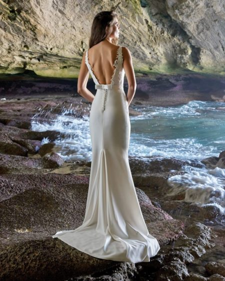 Back of Amelia Wedding Dress from the Elbeth Gillis Luminescence 2019 Bridal Collection