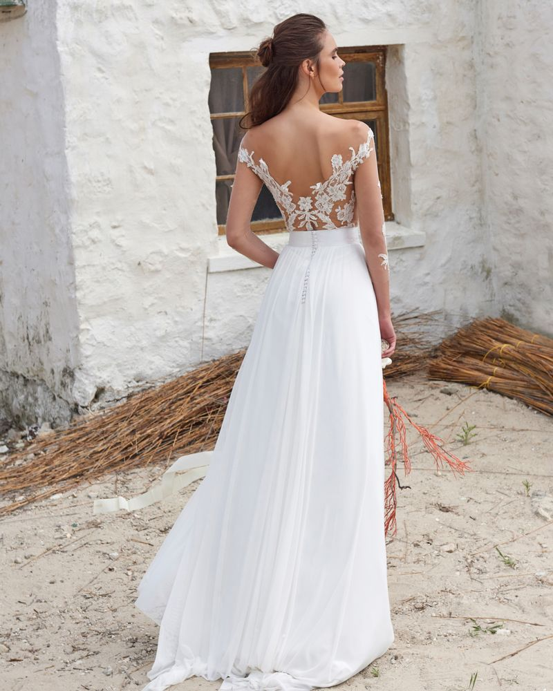 Back of Casey Skirt from the Elbeth Gillis Arniston Blue 2019 Bridal Collection