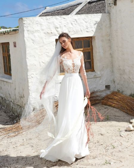 Casey Skirt from the Elbeth Gillis Arniston Blue 2019 Bridal Collection