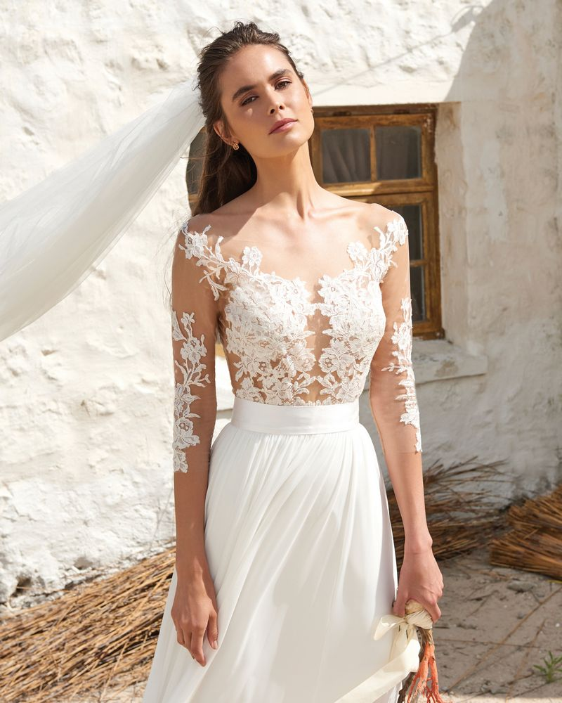 Edel Bodysuit from the Elbeth Gillis Arniston Blue 2019 Bridal Collection
