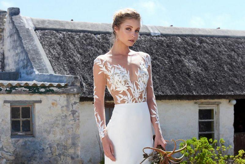 Elbeth Gillis Arniston Blue 2019 Bridal Collection - Tina Bodysuit with Alice Skirt