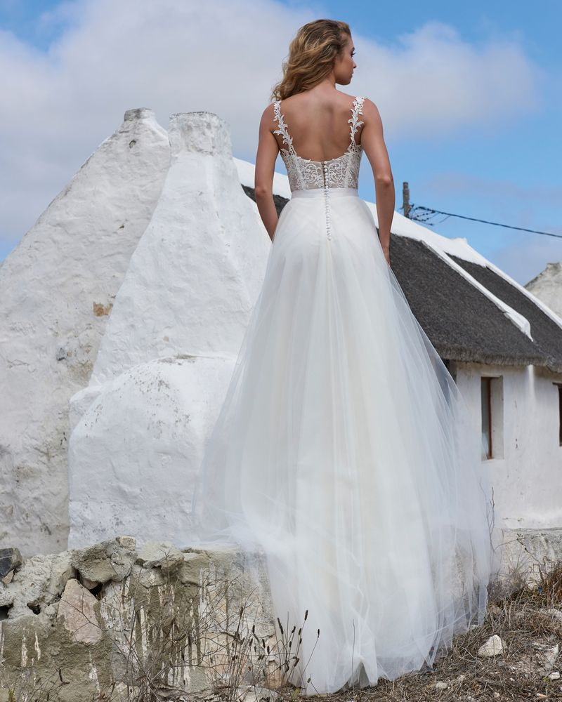 Back of Elsa Skirt from the Elbeth Gillis Arniston Blue 2019 Bridal Collection