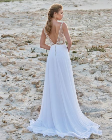 Back of Ernestine Wedding Dress from the Elbeth Gillis Luminescence 2019 Bridal Collection