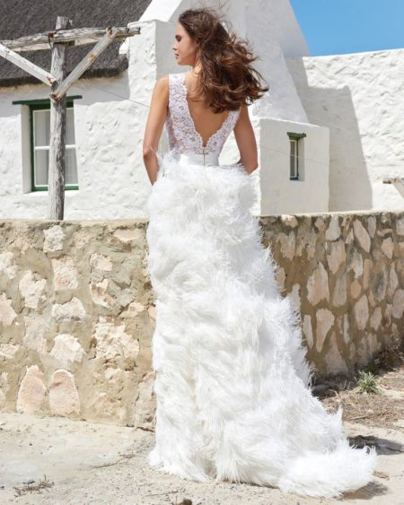 Back of Fabiana Skirt from the Elbeth Gillis Arniston Blue 2019 Bridal Collection