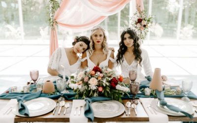 'Heaven Meets Earth' Winter Wedding Styling