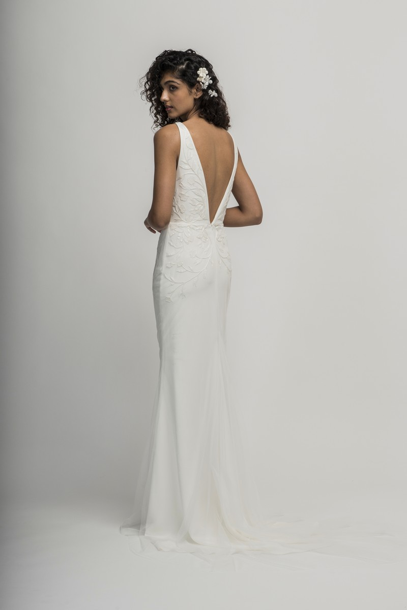 Back of Flora Wedding Dress from the Alexandra Grecco Cloud Nine 2019 Bridal Collection