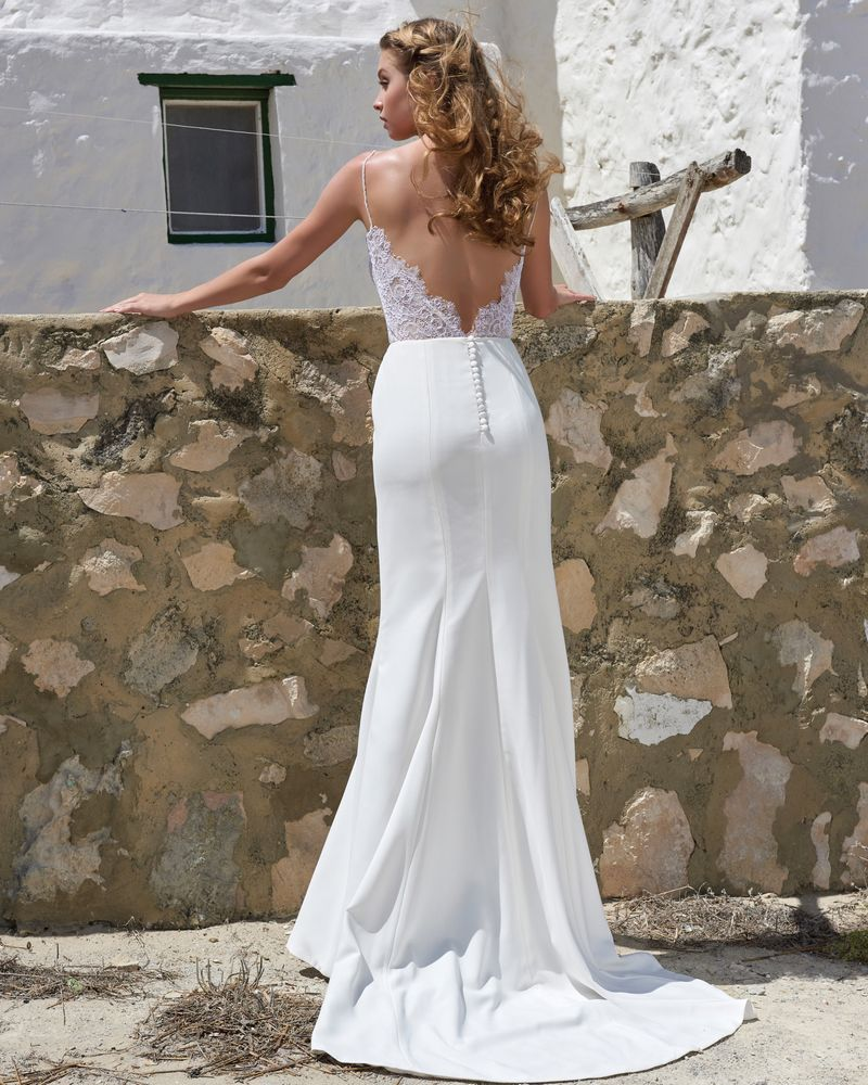 Back of Heather Skirt from the Elbeth Gillis Arniston Blue 2019 Bridal Collection