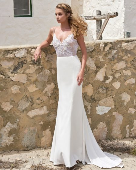 Heather Skirt from the Elbeth Gillis Arniston Blue 2019 Bridal Collection