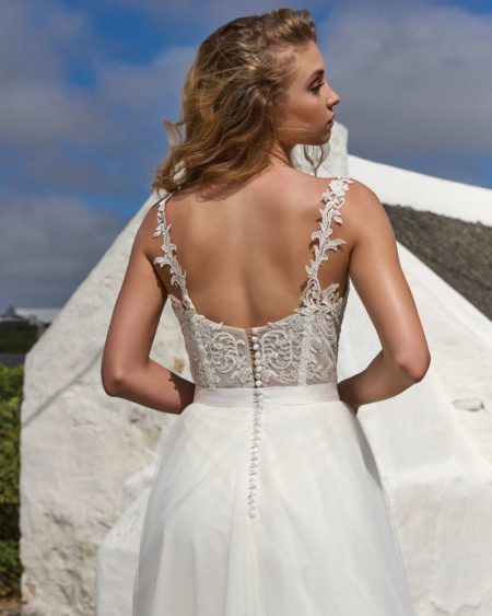 Back of Holly Bodysuit from the Elbeth Gillis Arniston Blue 2019 Bridal Collection