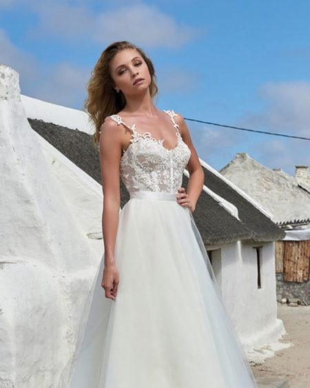 Holly Bodysuit from the Elbeth Gillis Arniston Blue 2019 Bridal Collection