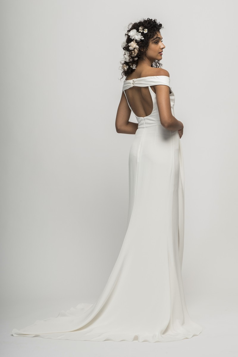 Back of Loren Wedding Dress from the Alexandra Grecco Cloud Nine 2019 Bridal Collection