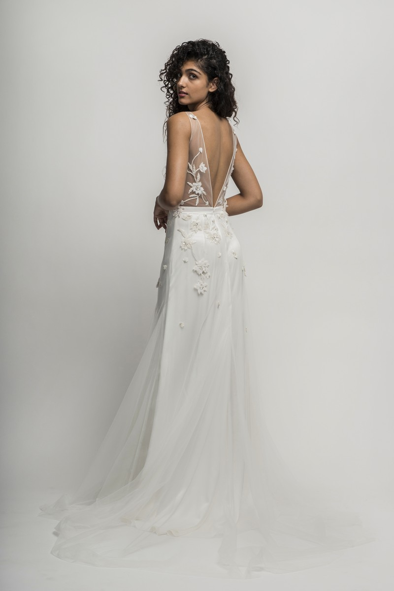 Back of Lucca Wedding Dress from the Alexandra Grecco Cloud Nine 2019 Bridal Collection