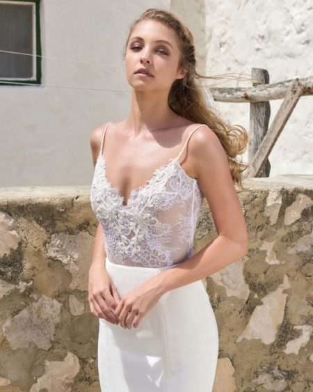 Megan Bodysuit from the Elbeth Gillis Arniston Blue 2019 Bridal Collection