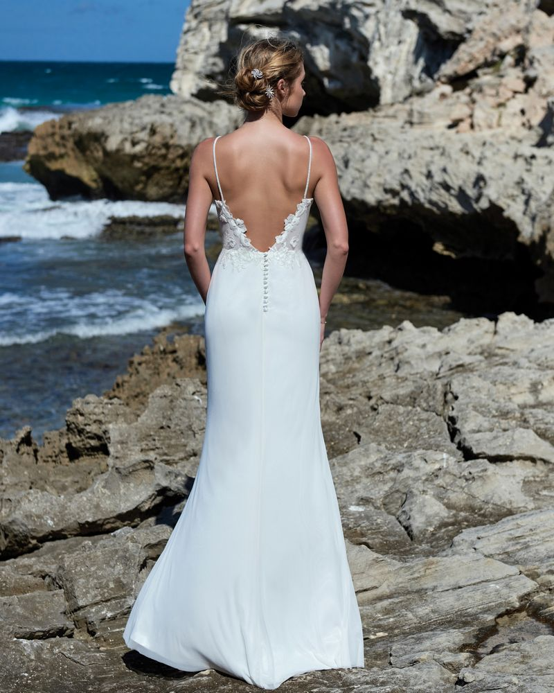 Back of Nina Wedding Dress from the Elbeth Gillis Luminescence 2019 Bridal Collection