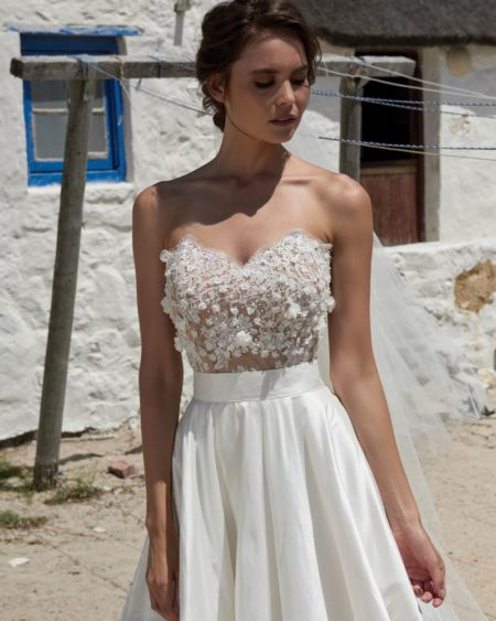 Petal Corset from the Elbeth Gillis Arniston Blue 2019 Bridal Collection