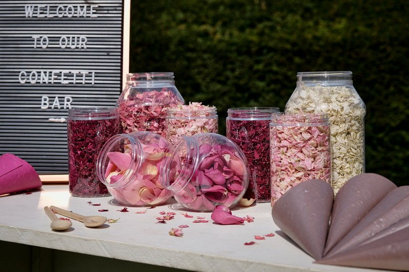 Pink Confetti Bar Items