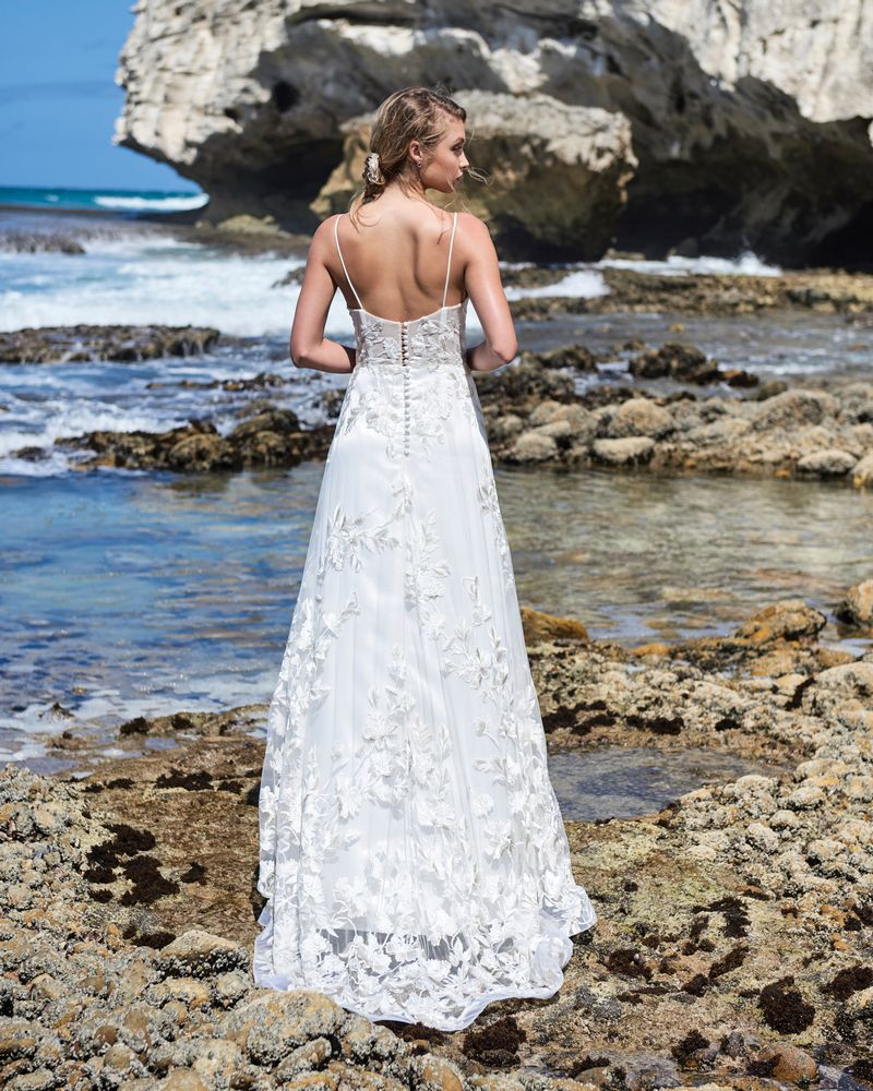 Back of Rosemary Wedding Dress from the Elbeth Gillis Luminescence 2019 Bridal Collection