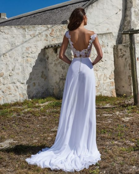Back of Sadie Skirt from the Elbeth Gillis Arniston Blue 2019 Bridal Collection