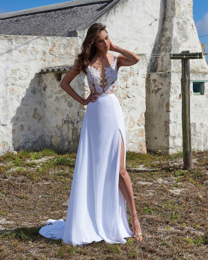 Sadie Skirt from the Elbeth Gillis Arniston Blue 2019 Bridal Collection