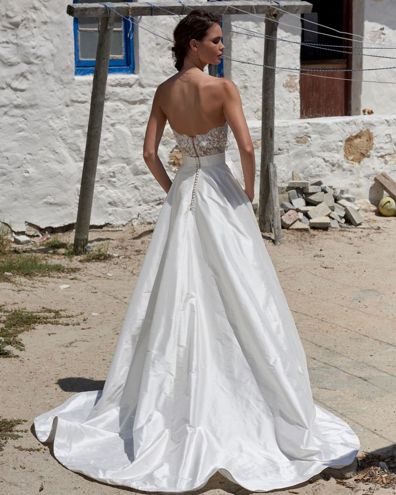 Back of Scarlet Skirt from the Elbeth Gillis Arniston Blue 2019 Bridal Collection