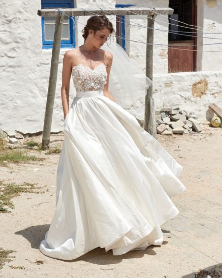 Scarlet Skirt from the Elbeth Gillis Arniston Blue 2019 Bridal Collection