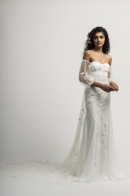 Serafina Wedding Dress with Sleeves and Train from the Alexandra Grecco Cloud Nine 2019 Bridal Collection