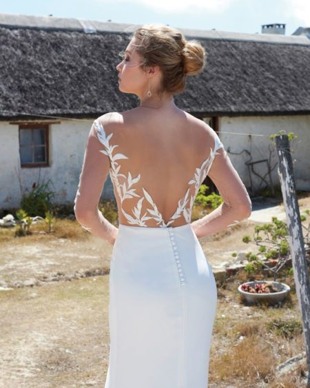 Back of Tina Bodysuit from the Elbeth Gillis Arniston Blue 2019 Bridal Collection